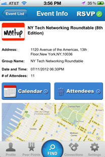 Find nearby Meetup events